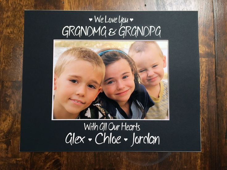 8x10 Custom We Love You Grandma & Grandpa Photo Mat - with the names of the grandchildren by NewtonHandiworks on Etsy