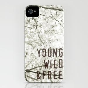 Young Wild & Free Iphone Case by Sarah Noga