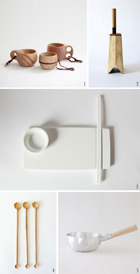 minimal kitchen goods -- lovely hand crafted kitchen stuff! Like my cutting board :)