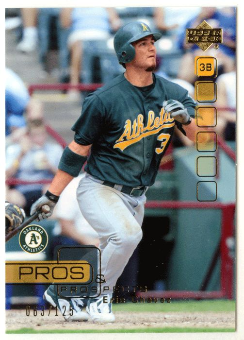 Eric Chavez # 42 - 2005 Upper Deck Pros and Prospects Baseball Gold