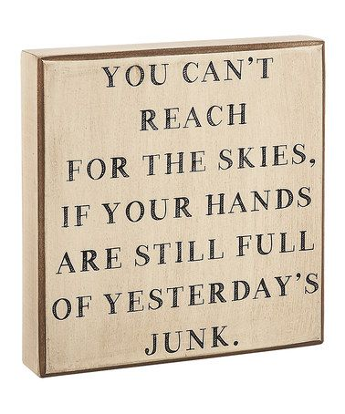 This 'Yesterday's Junk' Box Sign is perfect! #zulilyfinds