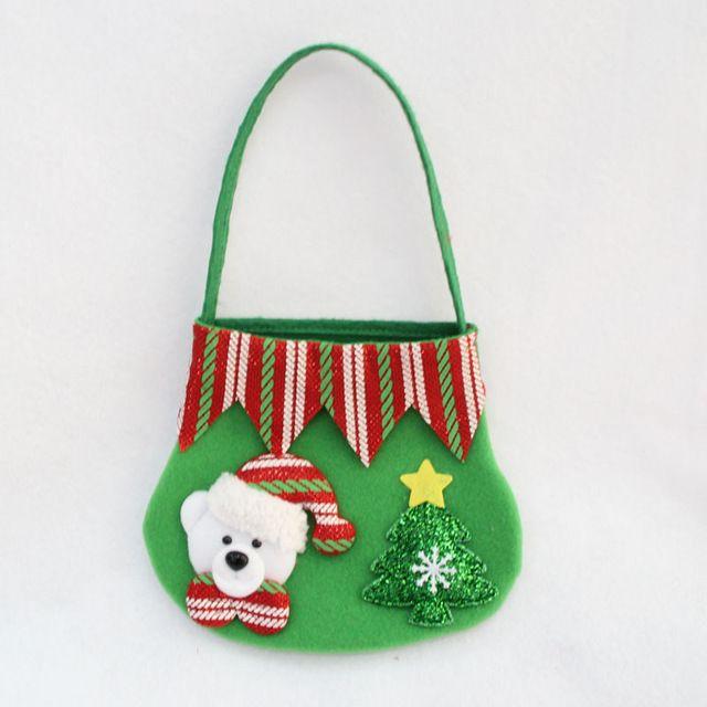 2016 Nueva Bolsa de Caramelos de Regalo de Navidad de Papá Noel/Muñeco de Nieve/de Los Ciervos/Oso 4 Unids/set Decoración De Navidad Bolsa de Regalo