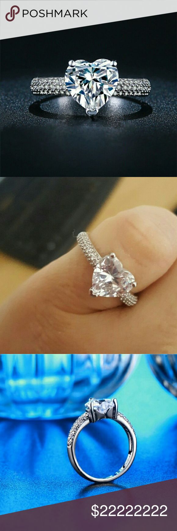 best heart shaped engagement rings images on pinterest