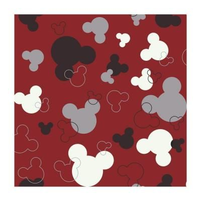 Disney 56 sq. ft. Mickey Mouse Heads Wallpaper-DK5928 at The Home Depot