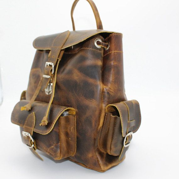 Leather Backpack, Mens Backpack,Leather Backpack, Leather Rucksack, Leather weekender. Travel Backpack, sac a dos cuir, sac a dos homme