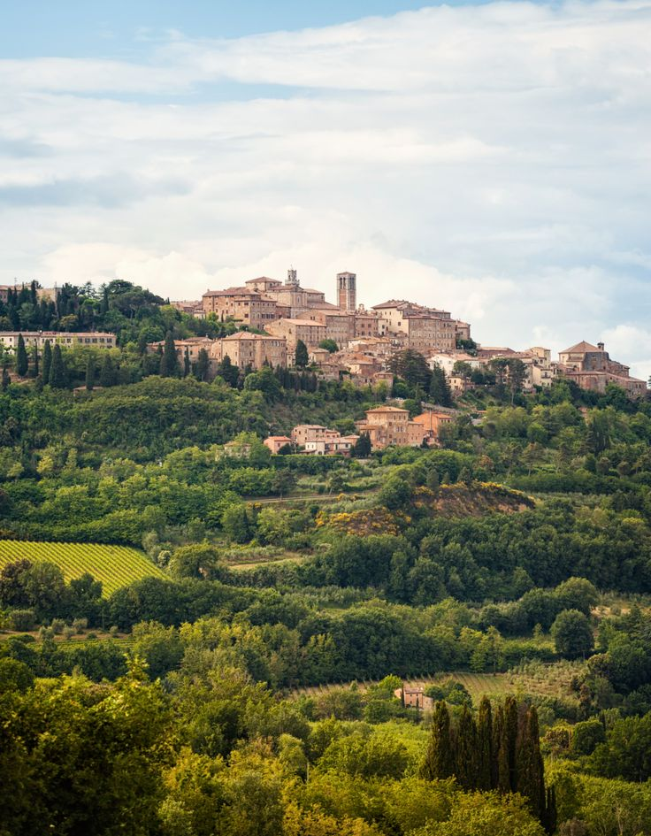 Montepulciano (Tuscany, Italy) is a medieval and Renaissance hill town and commune in the Italian Province of Siena. It sits high on a 605-metre limestone ridge. #tuscany