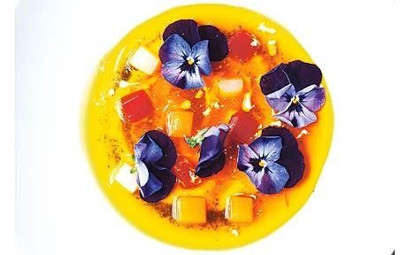 Saffron Jelly with Vanilla Panna Cotta by Pierre Gagnaire