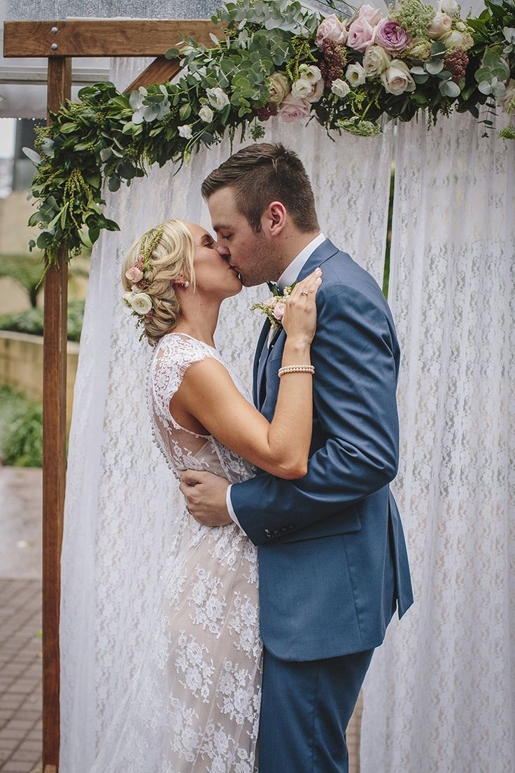 Emily + Josh #ivygown #ruedeseine #younglove Pretty Pink and Navy City Wedding |Merge Photography