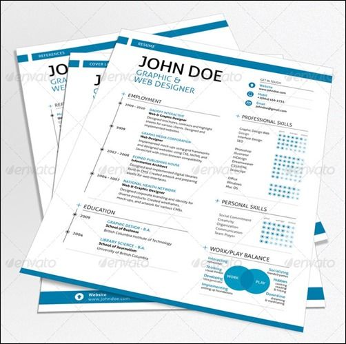 216 best cvs images on pinterest resume ideas cv design and - Nice Resume Template