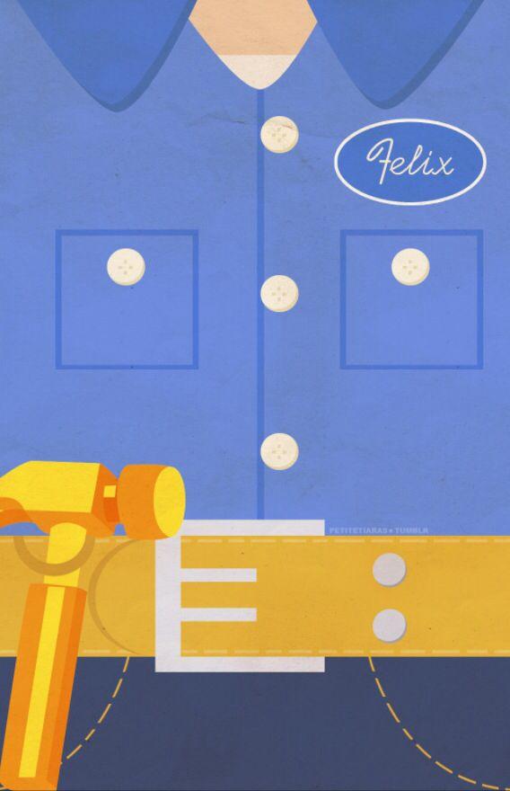 "Fix-it Felix from ""Wreck-it Ralph"" Disney iPhone background by PetiteTiaras"