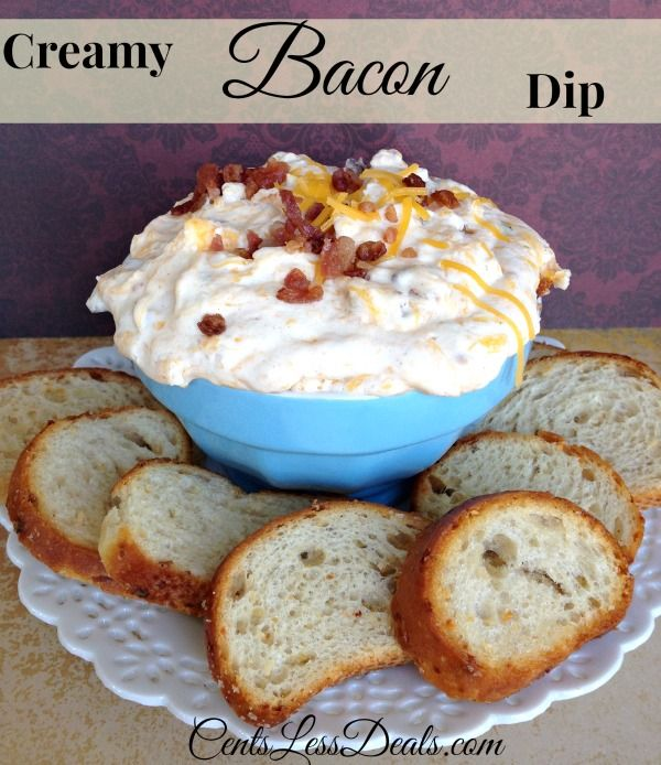 Creamy Bacon Dip - calls for bacon drippings, but I would probably just use extra bacon.
