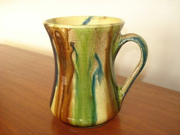 Magnificent Jova Rancich (attributed) vase or jug in trickle glaze colours of…