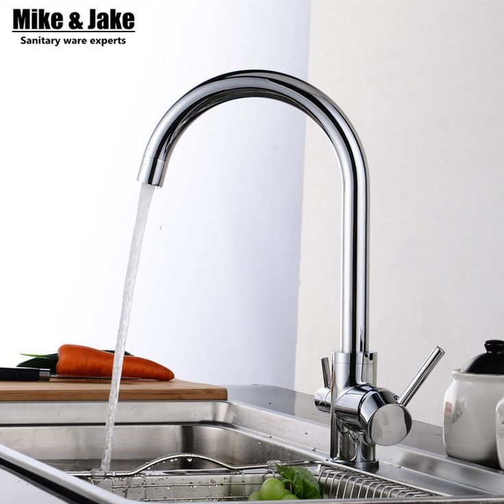 Solid Brass Chrome Water Kitchen Faucet 3 Way Double Function Filler Kitchen Faucet Three Way Tap For Water Filter Mixer #CLICK! #clothing, #shoes, #jewelry, #women, #men, #hats