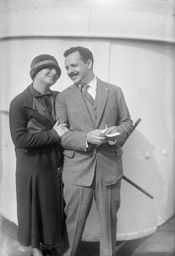 An interesting tidbit of passport history: Prior to the '20s, married women couldn't use their maiden names on their passports.   This is Doris E. Fleischman, the first American married woman to travel on a maiden name passport, arriving in New York City in 1923 with her husband Edward L. Bernays.
