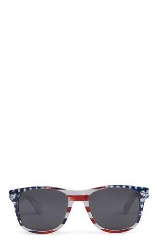 Deb Shops plastic wayfarer sunglasses with #American #flag print $7.90