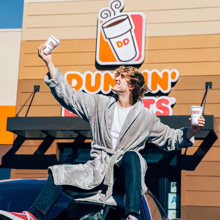 """134.9k Likes, 438 Comments - Logan Paul (@loganpaul) on Instagram: """"Bruh. Does it get much better than this? Enjoying the goods on the @DunkinDonuts app :) Go download…"""""""