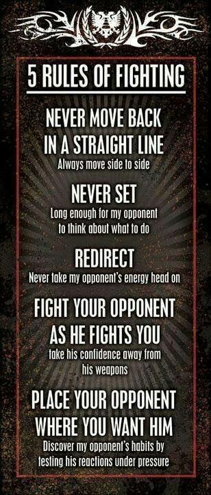 5 Rules of Fighting | Posted by SurvivalofthePrepped.com