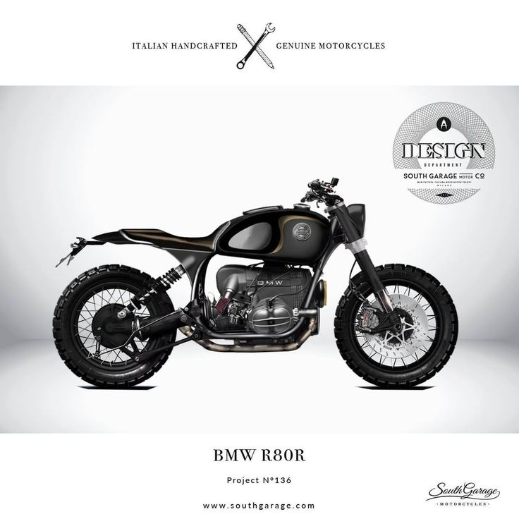 BMW R80R Project N°136 design by South Garage Motor Co. #illustration #design #motorcycles #motos | caferacerpasion.com