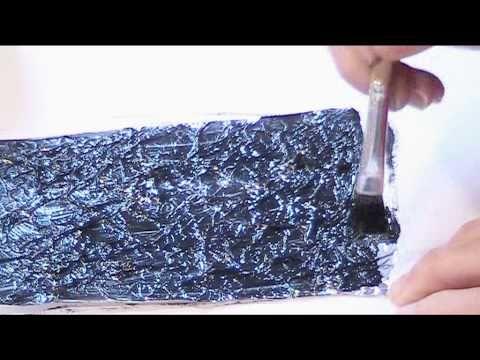 Black Gesso & Spray Inks - YouTube