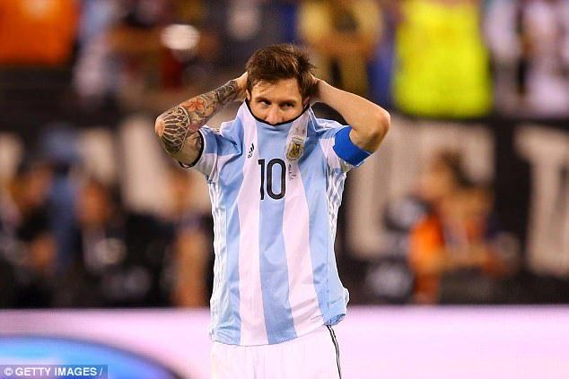 Messi announced his retirement after Argentina lost in the Copa America 2016 final to Chile