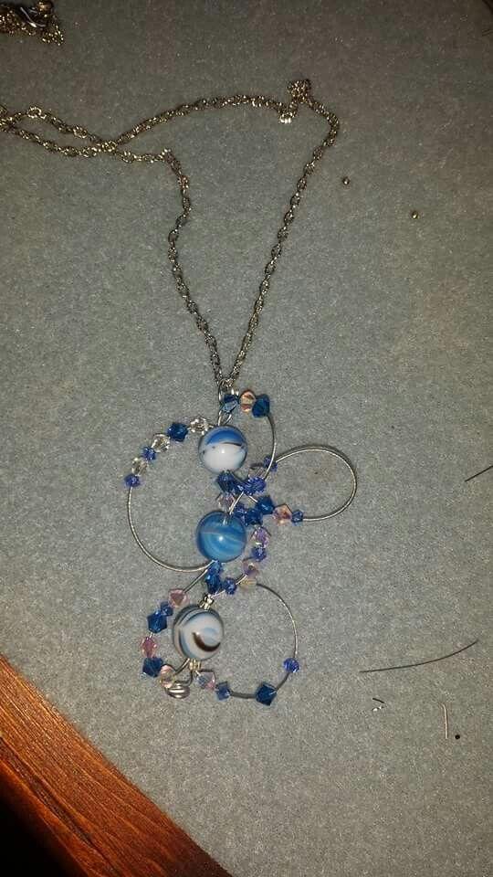 Collana.....perle in vetro e swaroski