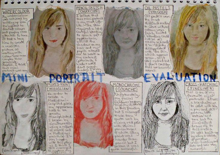 GCSE ART YEAR 10: Self-Portraits in Various Media by DaintyStain on DeviantArt