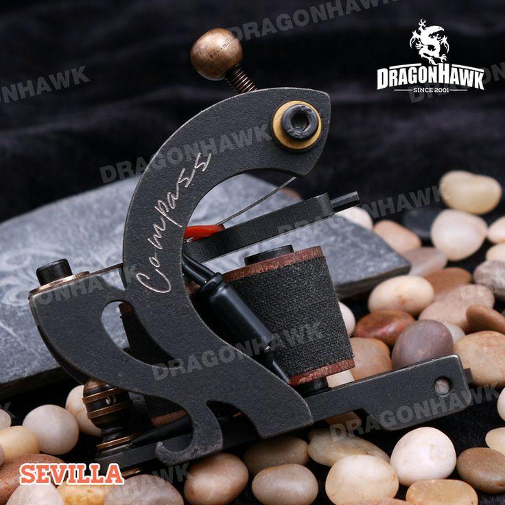 Compass Tattoo Machine Sevilla Shader Steel Frame Copper Coils [WQ2067] - US$150.00 :