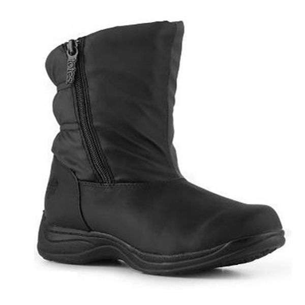 Totes KIM Womens Black Side Zip Insulated Waterproof Warm Winter Snow Boots #Totes #SnowWinter