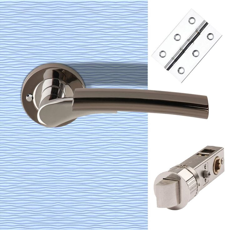 "PCP / Black Nickel ""Ultimo"" Lever on Rose Push Button Privacy Facility c/w SmartLatch Pack. #doorhandlepack #bathroomhandlepack #privacyhandlepack"