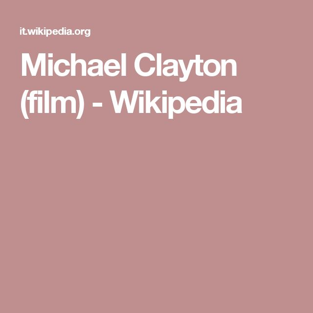 Michael Clayton (film) - Wikipedia
