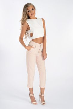 Arwen Nude Tailored Trousers