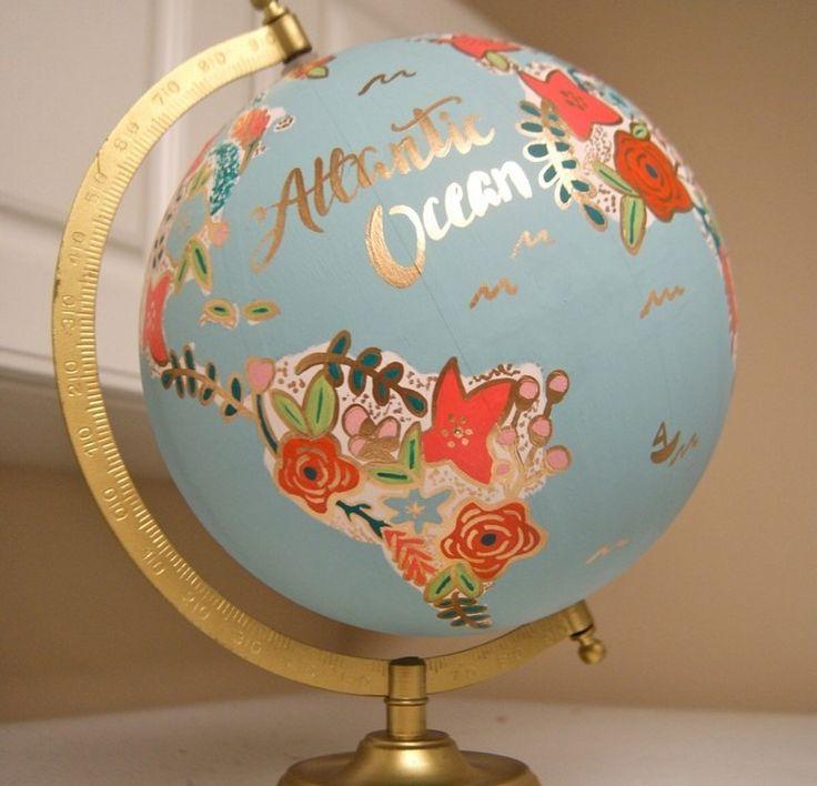 Globus Dekoration - mit Stiftmarker verschönern