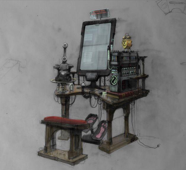 Qohen's computer desk