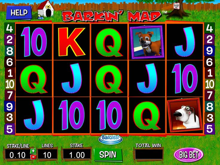 Drehe absolut kostenlos Spielautomat Barkin' Mad - http://freeslots77.com/de/barkin-mad/