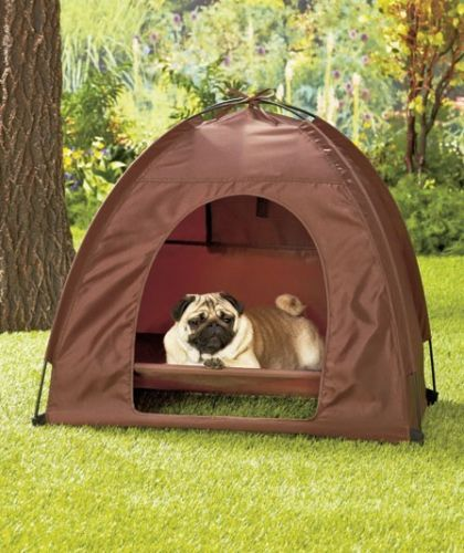 Dog Pet Bed Tent Dome Covered House Ventilation https://www.facebook.com/europugs