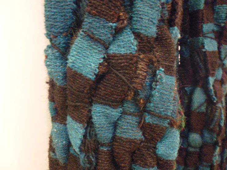Olga de Amaral MURO TEJIDO # 98 Tapiz, fibra vegetal y animal.