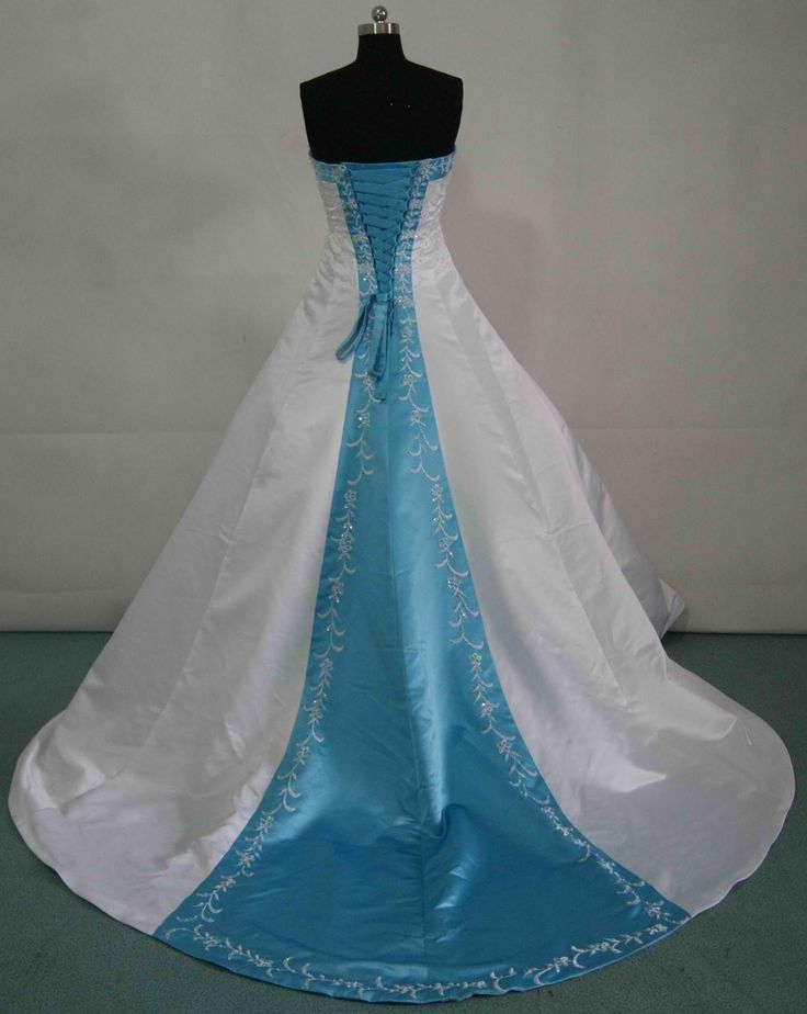 Alice in wonderland wedding dresses dresses for Wedding dresses with royal blue accents