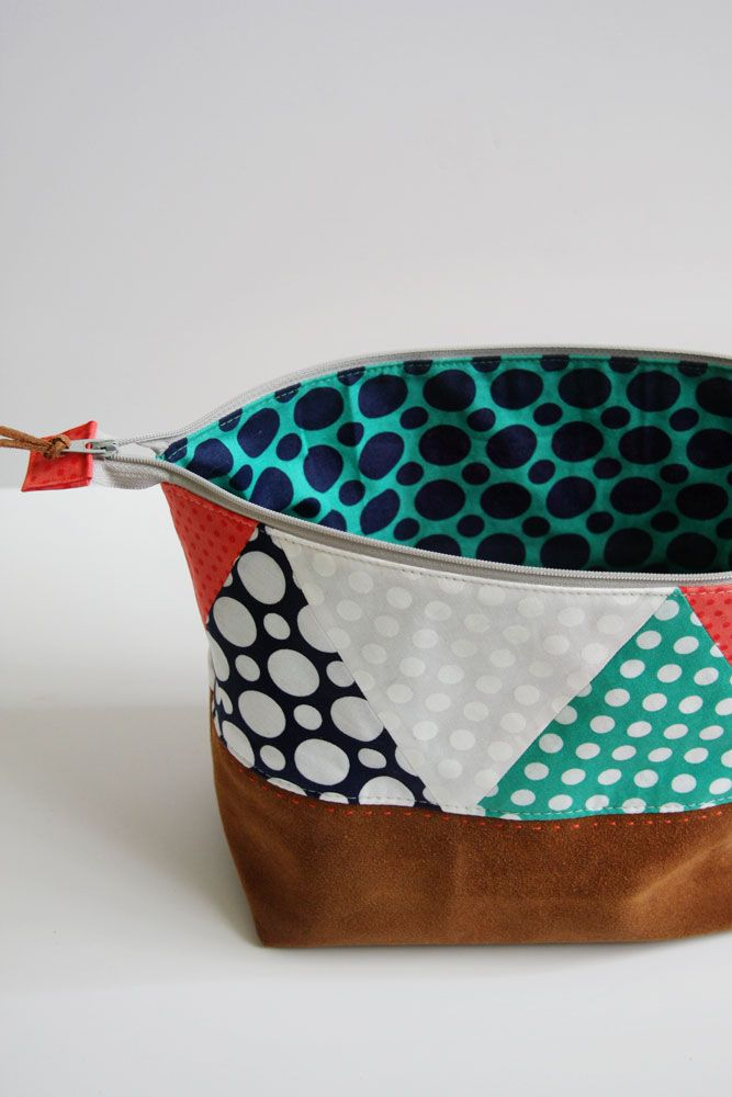Polka Dot and Leather Pouch Tutorial