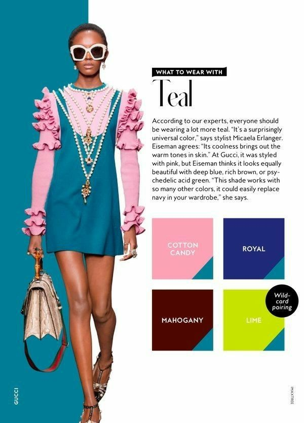 What to wear with the colour TEAL