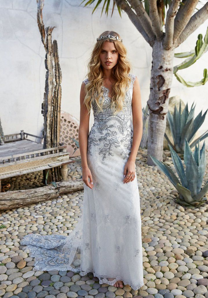 8c69d1e60d0 Horizon Gown from the Vagabond Collection by Couture Wedding Dress Designer Claire  Pettibone