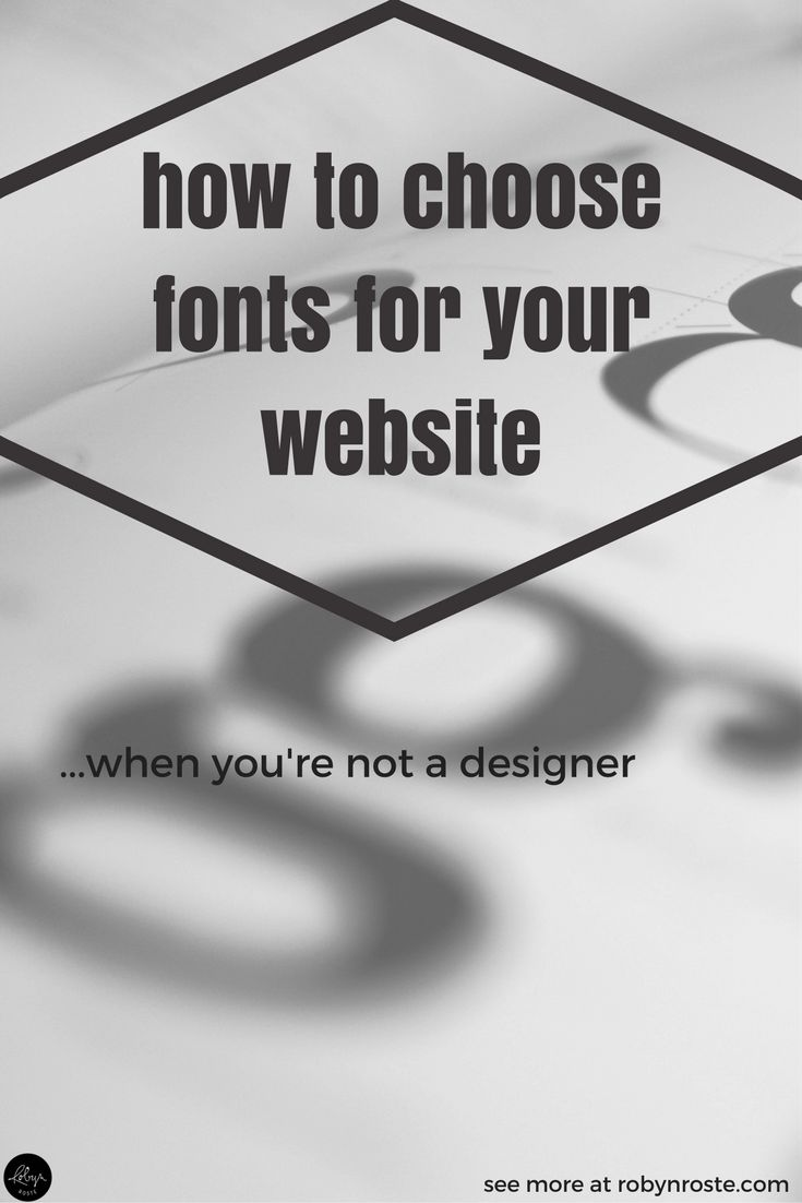 """Why are fonts such a big deal? I know they are but I don't """"get"""" it. But I understand, at least, that it <em>does</em> matter. So I'm here to tell you fonts matter and I could try and tell you why but I'd only be plagiarizing because I don't understand it. Can we just agree they are important and move on to figuring out how to choose fonts when you know they matter but you can't tell what works and what doesn't. Also known as how to choose fonts for your website when you're not a designer."""