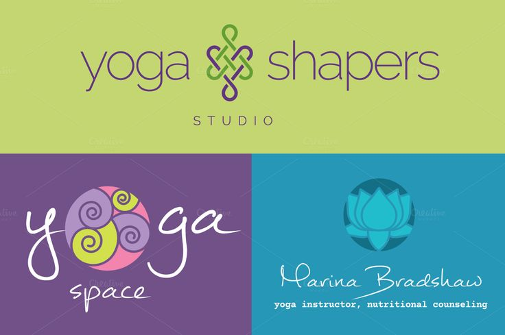 Yoga Logo Concepts + Symbols by Bootstrap Boogie on Creative Market