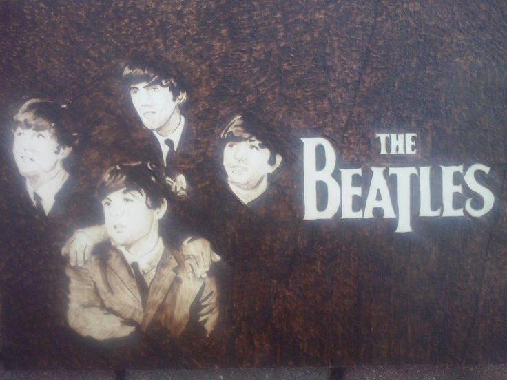 """""""The Beatles""""  Dimensione A4  Compensato di pioppo"""