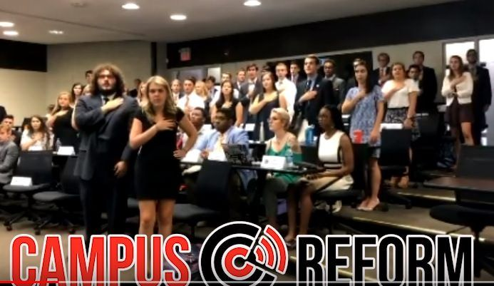 VIDEO: Clemson University Student Government Sits During Pledge of Allegiance