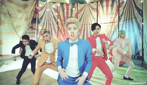 Block B Jackpot (gif) I can't. I just. THIS.