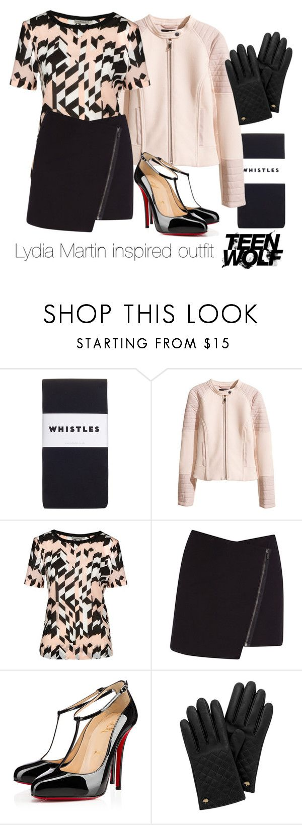 Lydia Martin inspired outfit/Teen Wolf by tvdsarahmichele on Polyvore featuring Calvin Klein, H&M, Helmut Lang, Whistles, Christian Louboutin and Mulberry