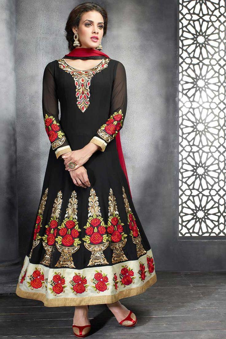 best Indian wear images on Pinterest Anarkali Anarkali suits