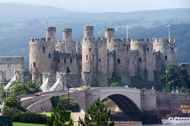 """Conwy Castle - A castle of """"massive military strength"""", it has been described as the most magnificent of Edward I's Welsh fortresses. An estimated £15,000 was spent building it, the largest sum Edward spent on any of his Welsh castles between 1277 and 1307."""