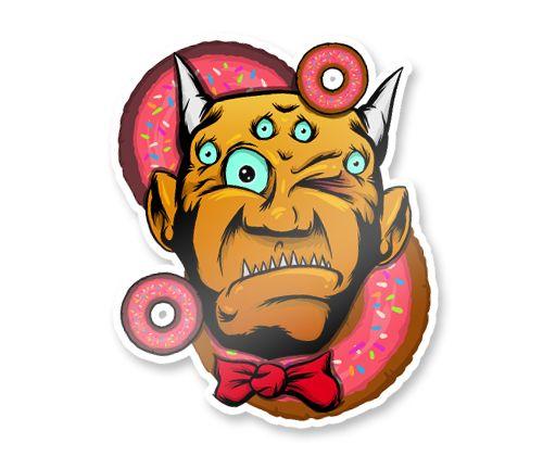 Monster Stickers by Evan Eckard, via Behance