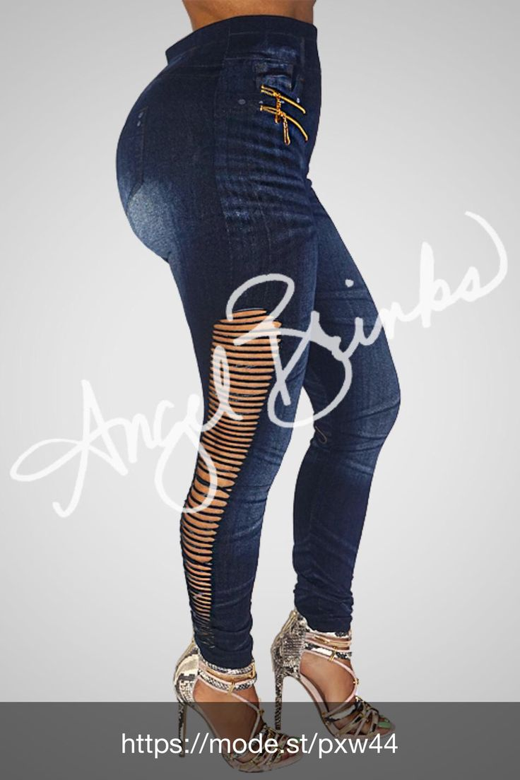 Check out Denim Look Leggings at Angel Brinks